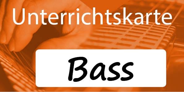 Unterrichtskarte Bassunterricht