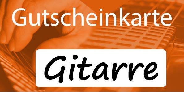 Gutscheinkarte Gitarrenunterricht