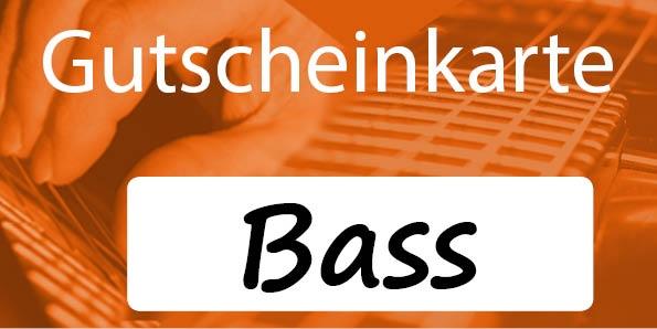 Gutscheinkarte Bassunterricht
