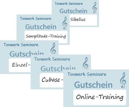 Tonwerk Seminare Gutschein-Karten