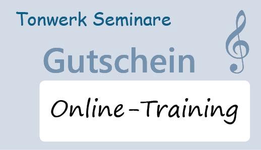 Gutscheinkarten für Tonwerk Seminare Online-Trainings