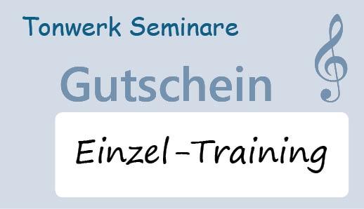 Gutscheinkarten für Tonwerk Seminare Einzel-Trainings