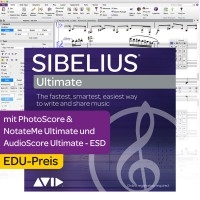 Sibelius Ultimate EDU Dauerlizenz + PhotoScore & NotateMe Ultimate + Audioscore Ultimate - Download
