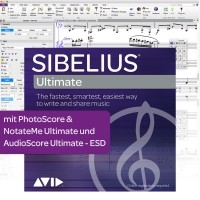 Sibelius Ultimate Dauerlizenz + PhotoScore & NotateMe Ultimate + AudioScore Ultimate - Download