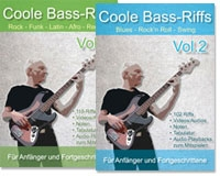 Coole Bass-Riffs Vol. 1 + 2 (Download)